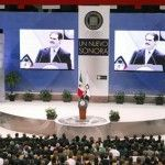 New Sonora Governor, Guillermo Padres attends Maquiladora Industry Summit in San Carlos, Mexico